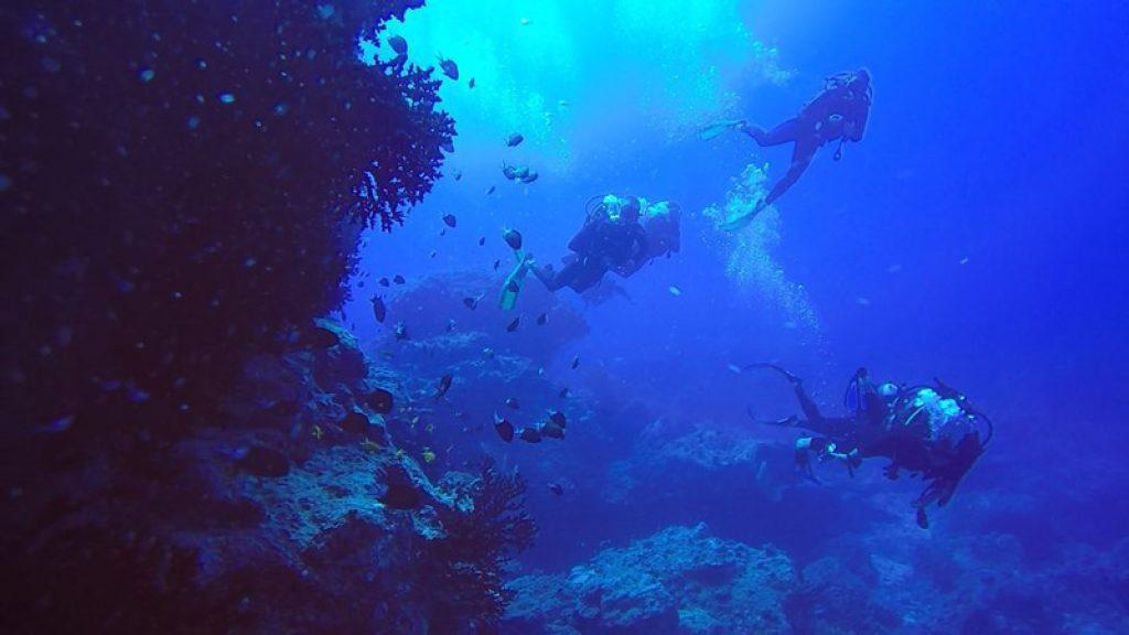 scuba dive in Mauritius