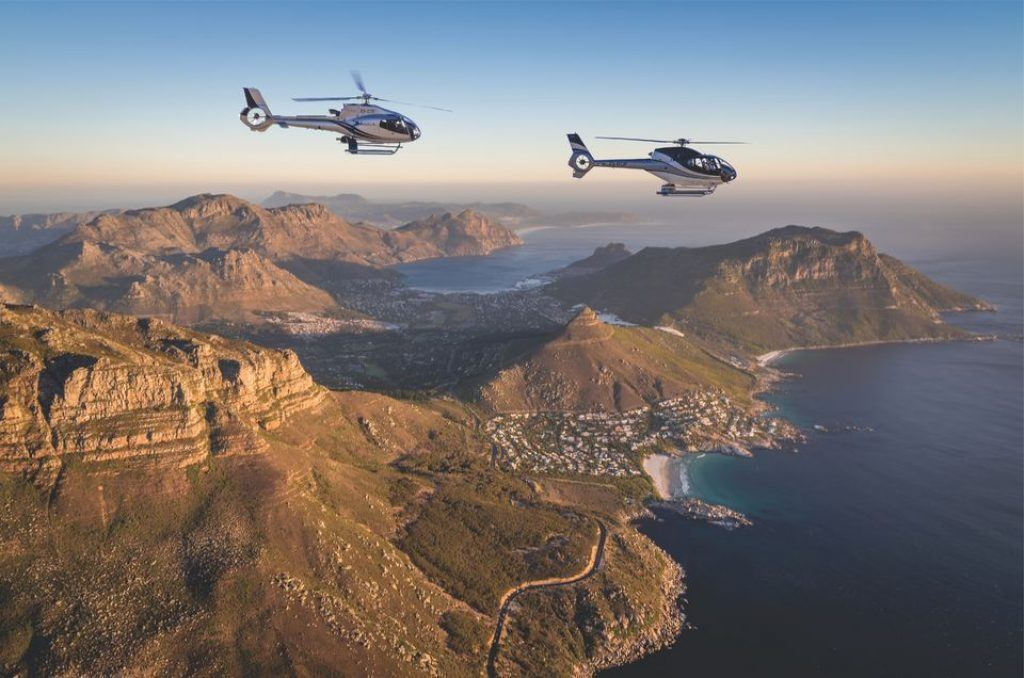 helicopters flying over cape peninsula