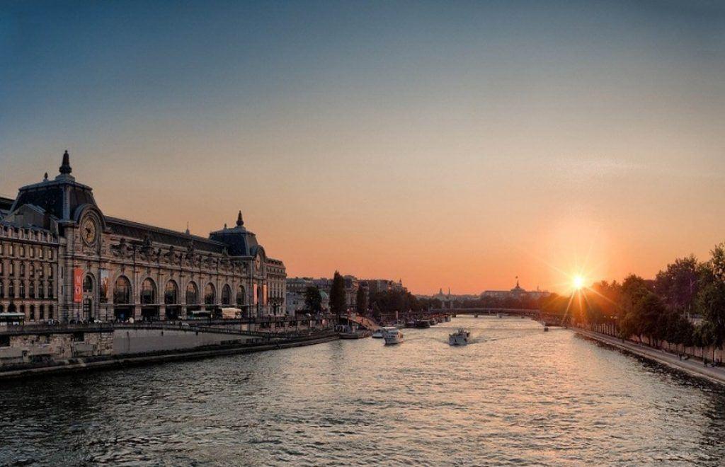 sun over the Seine