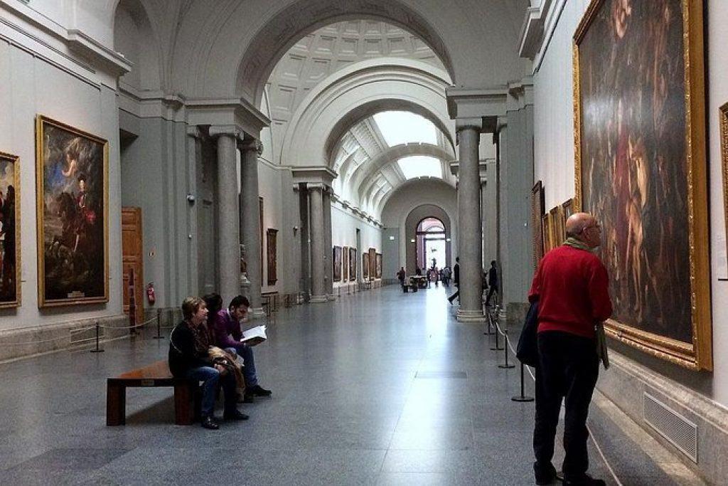 Hallway in the Prado museum, madrid