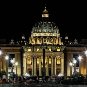 St Peter's Basilica at Night