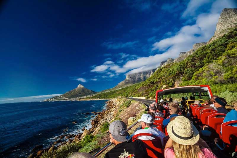 red bus tour cape town