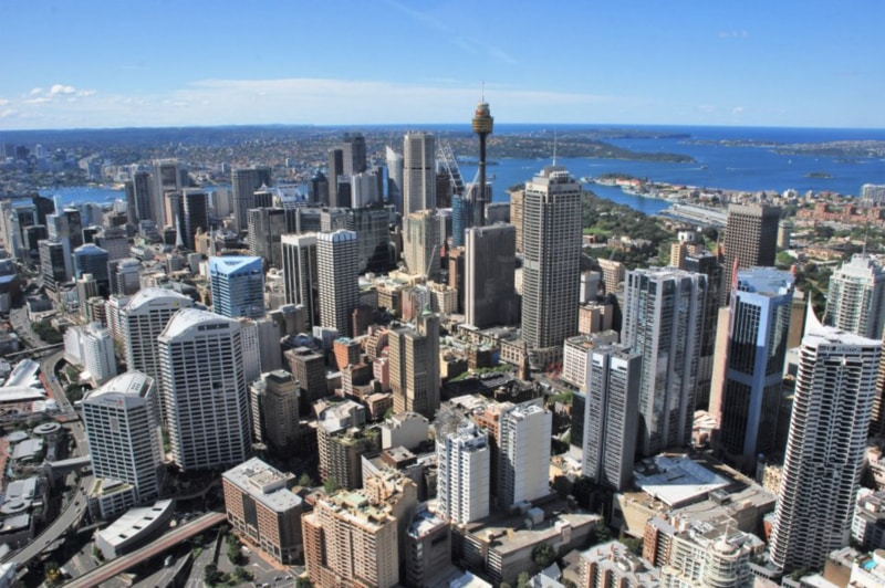 sydney city arieal view